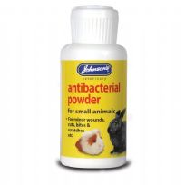 Johnson's Veterinary Antibacterial Powder : For small animal's minor wounds, cuts, bites & scratches